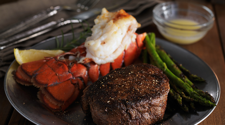 Payday Lobster Tail & Flat Iron Steak