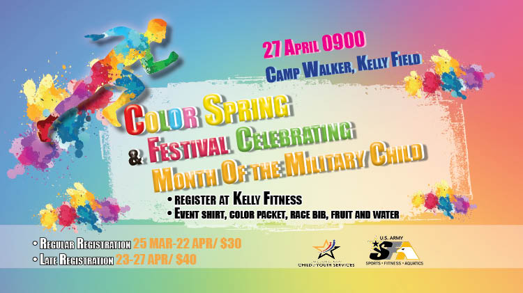 Color Spring & Festival Celebrating Month of The Military Child